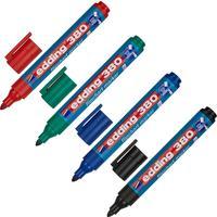 Набор маркеров для бумаги для флипчартов Edding E-380/4s 4 цвета (толщина линии 2.2 мм) круглый наконечник