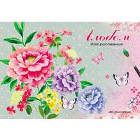 Альбом для рисования Проф-пресс Нежные цветочки А4 40 листов