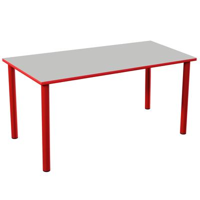 Стол двухместный Точка Роста (серый/красный, рост 5)