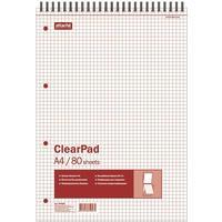 Блокнот Attache Selection Clear Pad А4 80 листов без линовки белый на спирали (205х305 мм)