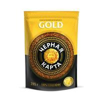 Кофе растворимый Черная Карта Gold 285 г (пакет)
