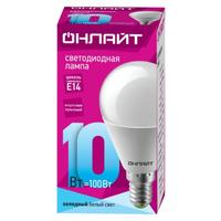 Лампа светодиодная ОНЛАЙТ OLL-G45-10-230-4K-E14 10Вт Е14 4000К 61966