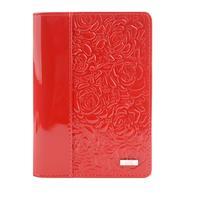 Обложка для паспорта Esse Page Red из натуральной кожи красного цвета (55900)