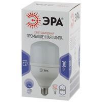Лампа светодиодная Эра 30Вт E27 цилиндрическая 6500k холодный белый свет