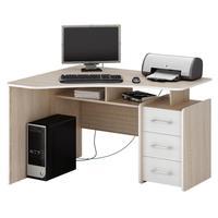 Стол компьютерный угловой Триан-5 (дуб сонома/белый, 1200x750x900 мм)
