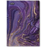 Папка на резинке Attache Selection Fluid А4+ 18 мм пластиковая до 200 листов фиолетовая (толщина обложки 0.45 мм)