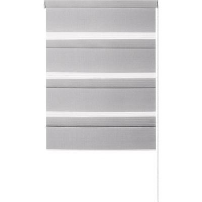 Рулонная штора день/ночь серая (730x1700 мм)