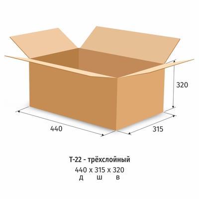 Гофрокороб 440х315х320 мм Т-22 бурый (10 штук в упаковке)