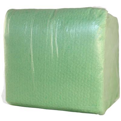 Салфетки бумажные Пастель 24x24 см салатовые 1-слойные 100 штук в упаковке