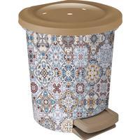 Ведро для мусора с педалью Марокко 6 л пластик разноцветное  (24.5x27 см)