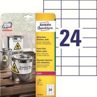 Этикетски самоклеящиеся Avery Zweckform (L4718-20) 70x37 мм 24 штуки на листе белые (20 листов в упаковке)
