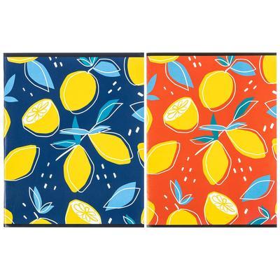 Тетрадь общая Attache Лимоны А5 96 листов в клетку на скрепке (обложка в ассортименте)