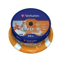 Диск DVD-R Printable Verbatim 4.7 Gb 16x (25 штук в упаковке)