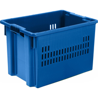 Ящик (лоток) универсальный из ПНД 600x400x400 мм синий