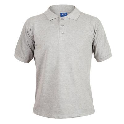 Рубашка Поло короткий рукав серая (L)