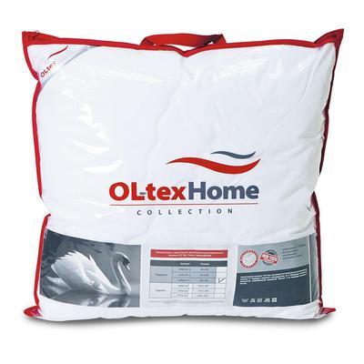 Подушка Ol-tex Богема 68х68 см искусственный лебяжий пух/тик с кантом