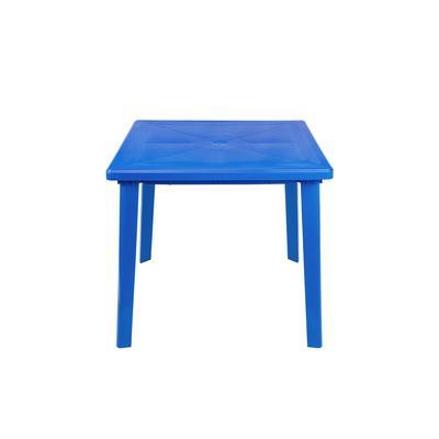 Стол пластиковый квадратный синий (800 x 800 x 710 мм )