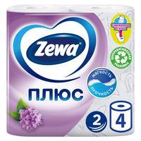 Бумага туалетная Zewa Плюс 2-слойная белая с ароматом сирени (4 рулона в упаковке)