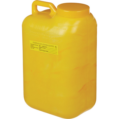 Упаковка для сбора медицинских отходов Олданс класс Б желтая 10 л