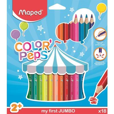 Карандаши цветные Maped Color'peps Jumbo 18 цветов трехгранные