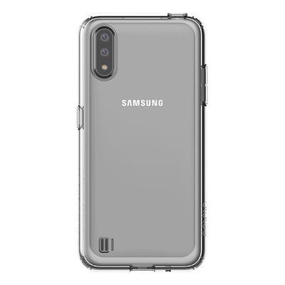 Чехол крышка Araree A cover для Samsung Galaxy A01 прозрачный (GP-FPA015KDATR)