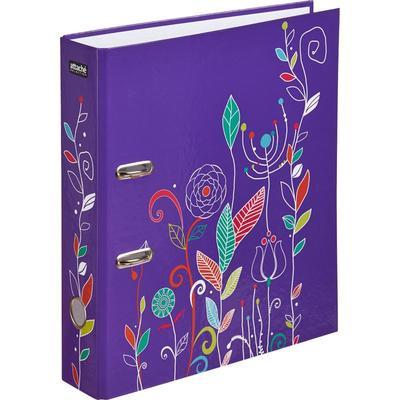 Папка с арочным механизмом Flowers 75 мм фиолетовая