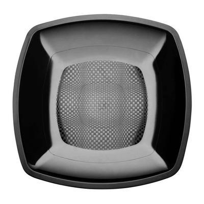 Тарелка одноразовая Buffet пластиковая черная 23х23 см 12 штук в упаковке