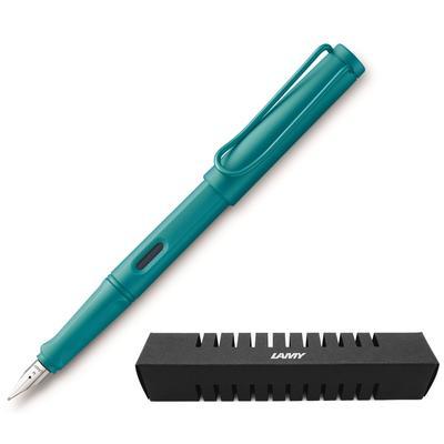 Ручка перьевая LAMY Safari цвет чернил синий цвет корпуса аквамарин