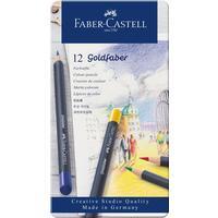 Карандаши цветные Faber-Castell Goldfaber 12 цветов в металлической упаковке