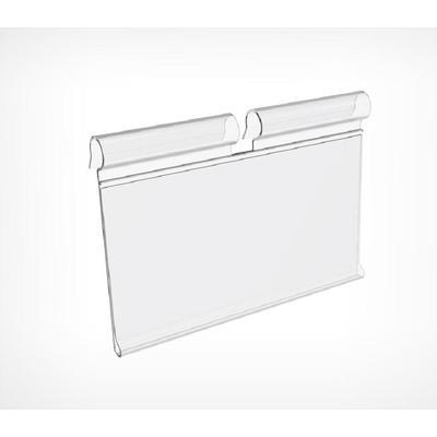 Ценникодержатель VH39 на крючок откидной длина 50 мм прозрачный (100 штук в упаковке)