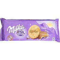 Печенье сдобное Milka с овсяными хлопьями и молочным шоколадом 168 г