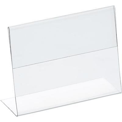 Ценникодержатель-подставка Attache ПЭТ 80x60 мм прозрачный (20 штук в  упаковке)