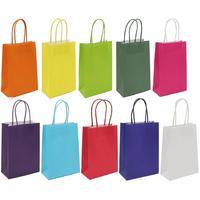 Пакет подарочный из крафт-бумаги Omg-gift Цветной (45х32х12 см, 20 штук в упаковке)