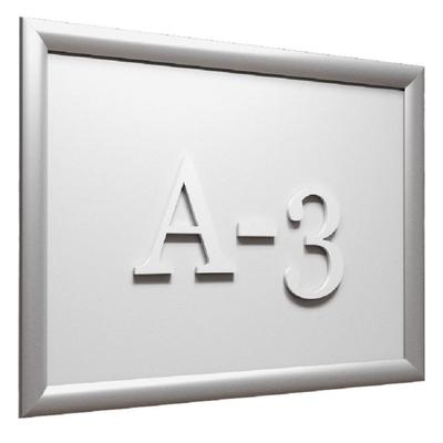 Рамка настенная с клик-профилем 25 мм формат А3 Attache серебристая
