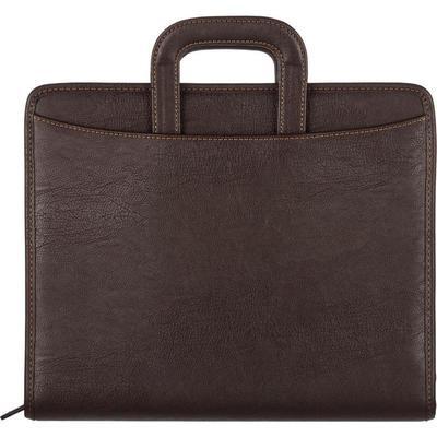 Уценка. Папка деловая Алекс из экокожи коричневого цвета (108)