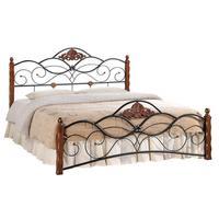Кровать Canzona (черная/красный дуб, 1200х2100х1140 мм)
