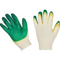 Перчатки рабочие защитные трикотажные с двойной латексной заливкой 13 класс (10 пар в упаковке)