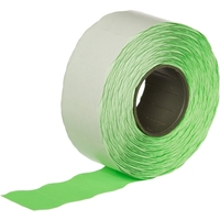 Этикет-лента волна зеленая 26х16 мм (10 рулонов по 1000 этикеток)