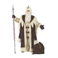 Костюм карнавальный взрослый Дед Мороз Королевский синий (размер 54-56)