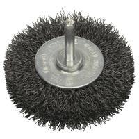 Щетка кольцевая волнистая сталь 75 мм для дрели Bosch (2608622053)