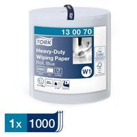 Бумага протирочная Tork W1 130070 2-слойная (голубая, 1000 листов в упаковке)