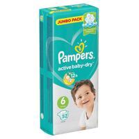 Подгузники Pampers Active Baby-Dry Extra Large 13-18 кг (52 штуки в упаковке)