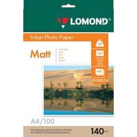 Фотобумага для цветной  струйной печати Lomond односторонняя (матовая, А4, 140 г/кв.м, 100 листов, артикул производителя 0102074)