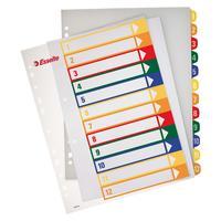 Разделитель листов Esselte А4+ пластиковый 12 листов (цифровой)