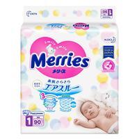 Подгузники Merries для новорожденных размер NB 0-5 кг (90 штук в упаковке)