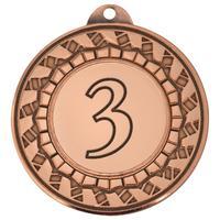 Медаль призовая 3 место 45 мм бронзовая