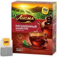 Чай Лисма Насыщеный черный 100 пакетиков
