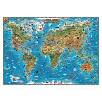 Настенная карта мира для детей