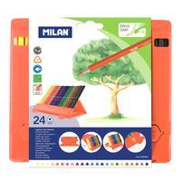 Карандаши цветные Milan трехгранные 24 цвета