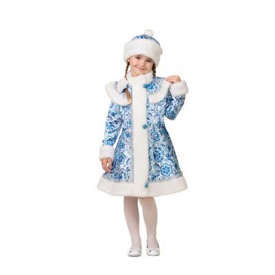 Костюм карнавальный Батик Снегурочка для девочек голубой (размер 140-72)
